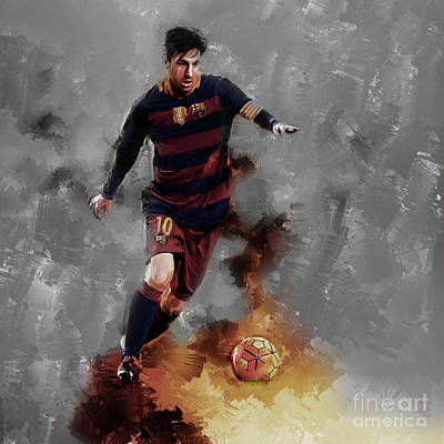 Lionel Messi  Art Print by Gull G