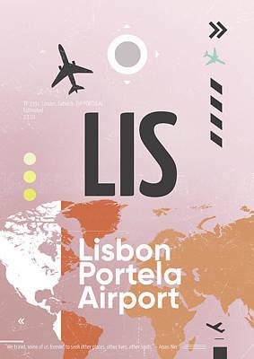 Lis Lisbon Airport Art Print