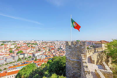 Photograph - Lisbon Castle Flag by Benny Marty