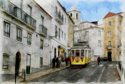 Photograph - Lisbon City Tram by Anthony Dezenzio