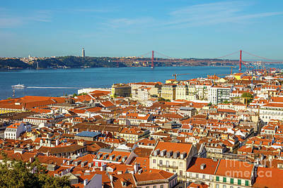 Photograph - Lisbon Skyline Portugal by Benny Marty