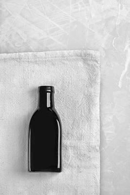 Art Print featuring the photograph Little Black Bottle  by Andrey  Godyaykin