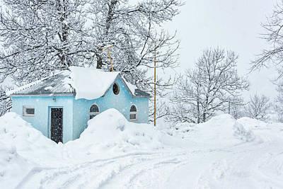 Little Blue House Art Print by Svetlana Sewell