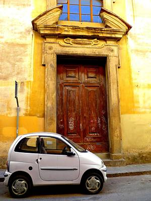Little Car Of Florence Art Print by Jen White