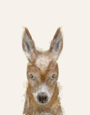 Donkey Digital Art - Little Donkey by Bri B