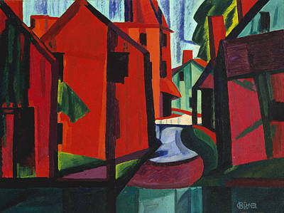 Painting - Little Falls, New Jersey by Oscar Bluemner