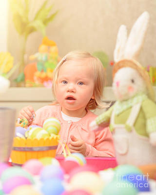 Photograph - Little Girl Celebrate Easter by Anna Om