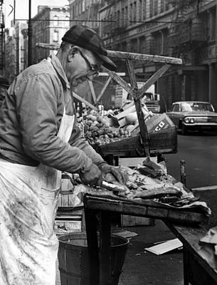 Little Italy, Charles Catalano Cleaning Art Print by Everett