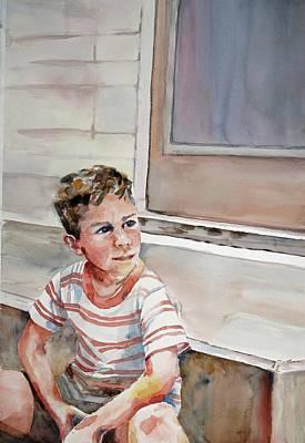 Painting - Little Man  Big Dreams by Diane Fujimoto