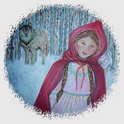 Painting - Little Red Riding Hood  by The Art With A Heart By Charlotte Phillips