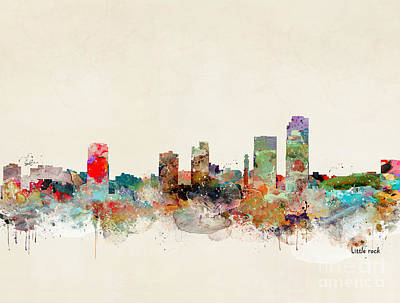 Print featuring the painting Little Rock Arkansas by Bri B