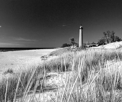 Photograph - Little Sable Light Station - Film Scan by Larry Carr