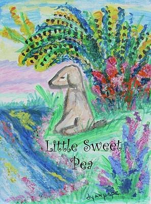 Painting - Little Sweet Pea With Title by Diane Pape