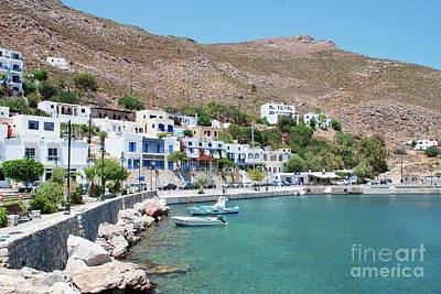Photograph - Livadia Harbour On Tilos by David Fowler