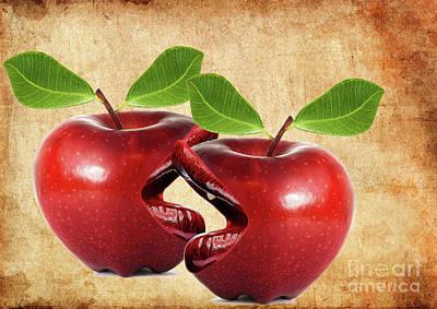 Fruits Photograph - Live Apples  by Prar Kulasekara