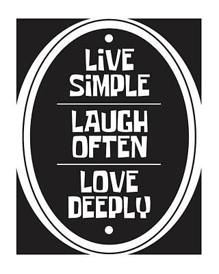 Love Mixed Media - Live Love Laugh by Studio Grafiikka
