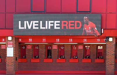 Liverpool Uk. 17th Sepember 2016. The Ticket Office At Liverpool Football Club Stadium Kop End Art Print