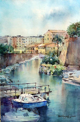 Livorno - Italy Art Print by Natalia Eremeyeva Duarte