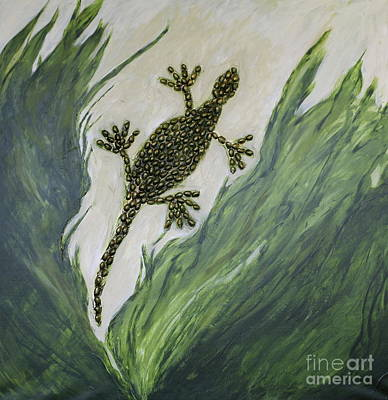 Mixed Media - Lizard by Christiane Schulze Art And Photography