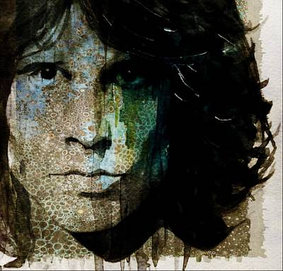 Lizard Mixed Media - Lizard King / Jim Morrison by Paul Lovering