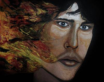 Painting - Lizard King Light My Fire. by Ken Zabel