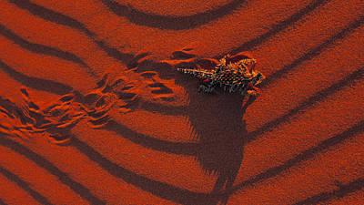 Pattern Digital Art - Lizard by Super Lovely