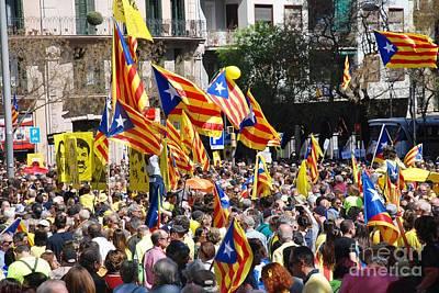 Photograph - Llibertat Presos Politics Protest In Barcelona by David Fowler
