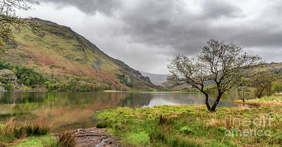 Autumn Landscape Digital Art - Llyn Gwynant by Adrian Evans