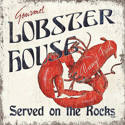 Crustacean Painting - Lobster House by Debbie DeWitt