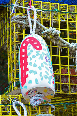 Photograph - Lobster Trap Buoy Christmas Decoration by Mike Martin