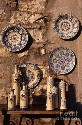 Italian Pottery Photograph - Local Pottery For Sale Gubbio Umbria Italy by Michael Walters