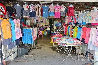 Photograph - Local Store For Children Clothing by Yali Shi