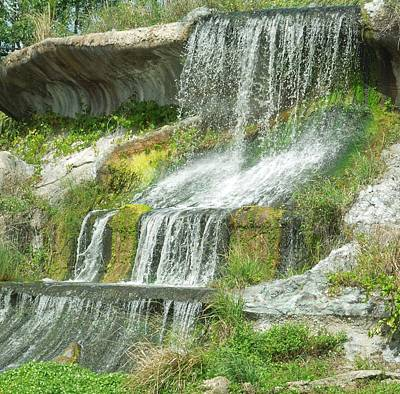 Photograph - Local Waterfall by Ron Davidson