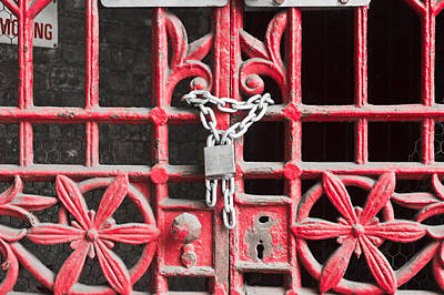 Locked Gate Art Print