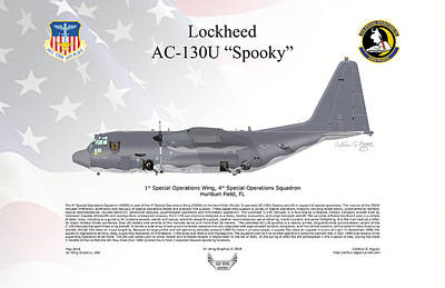 Digital Art - Lockheed Ac-130u Spooky by Arthur Eggers