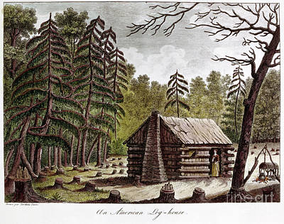 Log Cabin, 1826 Art Print by Granger