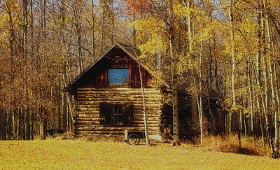 Photograph - Log Cabin In The Woods by Pixabay