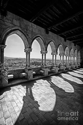 Castle Photograph - Loggia Of The Gothic Leiria Caste by Jose Elias - Sofia Pereira