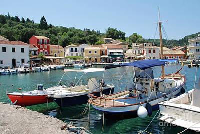 Photograph - Loggos Harbour On Paxos by David Fowler
