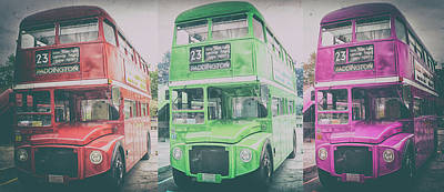 Bus Photograph - London Buses by Martin Newman