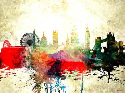 London Skyline Mixed Media - London by Daniel Janda