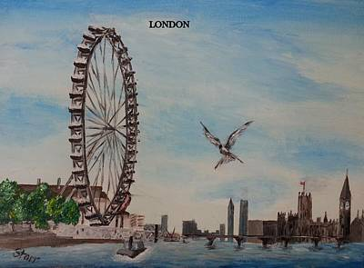 London Eye Painting - London Eye by Irving Starr