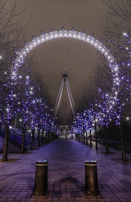 London Eye Photograph - London Eye by Lee-Anne Rafferty-Evans