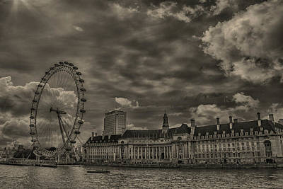 London Eye Photograph - London Eye by Martin Newman