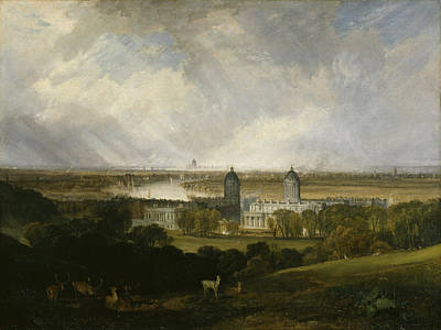 Townscape Painting - London From Greenwich Park by JMW Turner