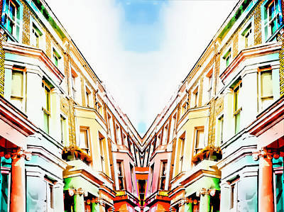 Merging Photograph - London Houses by Tom Gowanlock