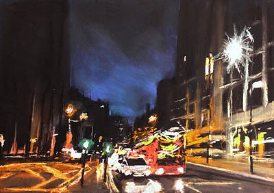 Drawing - London Oxford Street by Paul Mitchell
