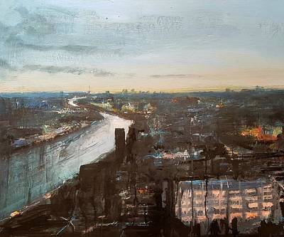 London Skyline Mixed Media - London Skyline Dusk by Paul Mitchell