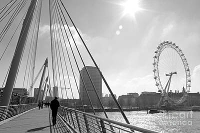 Photograph - On The Jubilee Bridge London Uk by Julia Gavin