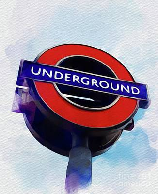 London Tube Painting - London Underground by John Springfield
